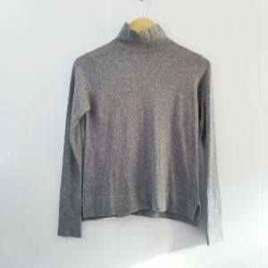 Zara knit soft grey lightweight mock neck s